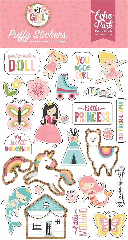 Echo Park All Girl Puffy Stickers #ALG206066