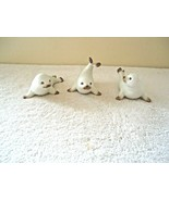 "Vintage Set Of 3 Homco White Baby Seals Figurines "" BEAUTIFUL COLLECTIBL... - $19.99"