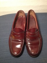 BASS Weejuns Brown Red Cordovan Leather Penny Loafers Mens shoes Size 11d (rc3) - $46.74