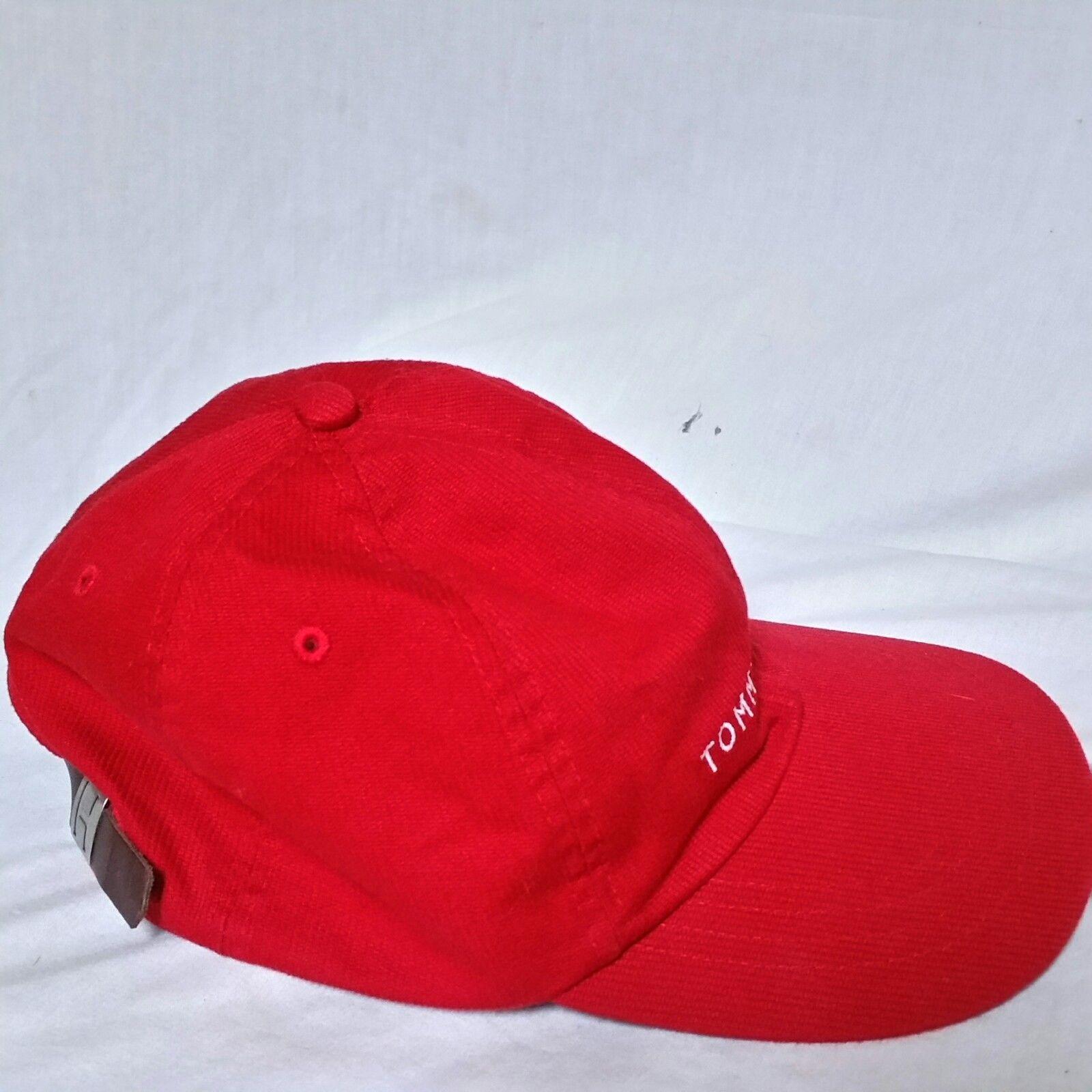 1378c5e5 VTG Tommy Hilfiger Strapback Hat 90s Spell Out Flag Lotus Cap Racing Sport  Ski