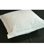 "Nautica White Decorative Throw Pillow 17"" x 18"" Textured Squares - $16.82"