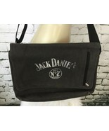 "Jack Daniels Crossbody Satchel Bag Book Bag Distressed Faded Black 14"" X... - $39.59"