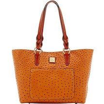 Dooney & Bourke Ostrich Tammy Tote Tan Purse Handbag