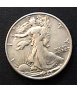 1942 S Walking LIberty Half Dollar, 90% Silver, Xtra Fine, Sharp, Little... - $35.00