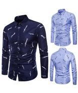 Mens Long Sleeve Oxford Formal Casual Suits Slim Fit Tee Dress Shirts Bl... - $55.36