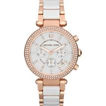 Michael Kors MK5774 Rose Gold Ceramic Parker Chronograph Analogue Watch - $122.75