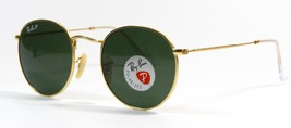 Ray Ban 3447 112/58 Polarized Gold Frame Green Lens Sunglasses 50mm New ... - $123.70