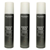 Goldwell Stylesign 4 Perfect Hold Big Finish Volumizing Hair Spray 8.7 oz. - 3 P