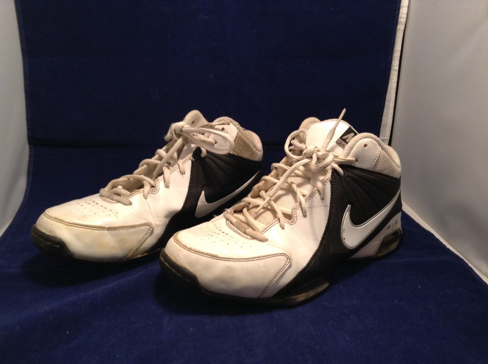 Men's Nike Air Visi Pro White/Black Basketball Shoes Sz 10