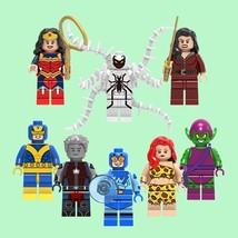 8 PCS/Set Marvel WONDER WOMAN & FRIENDS Minifigure Bricks Building Block... - $15.45