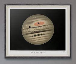 The Planet Jupiter Art Print by Étienne Léopold Trouvelot – 1882 – Star ... - $25.95+