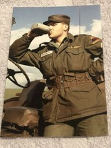 Elvis Presley Candid Photo Elvis In Army Drinking From Canteen 4x6 - $6.92
