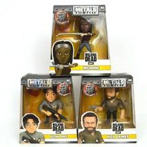 Walking Dead Figures Lot Glenn Rhee Michonne Rick Grimes Metals Die Cast New  - $37.36