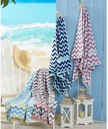 NEW REVERSIBLE COTTON CHEVRON BEACH TOWEL POOL ... - $11.26