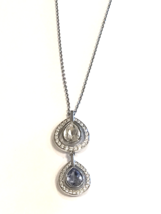 Swarovski Crystal Double Drop Necklace Jewelry - $90.00