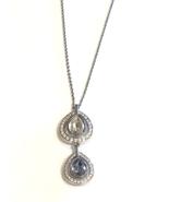 Swarovski Crystal Double Drop Necklace Jewelry - $90.00