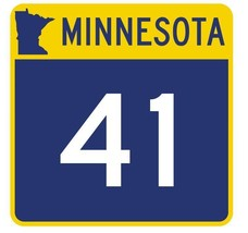 Minnesota State Highway 41 Sticker Decal R4734 Highway Route Sign - $1.45+