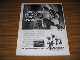 1966 Print Ad Johnson Sea-Horse Outboard Motors 5 Models Shown - $15.08