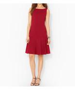 NWT LAUREN Ralph Lauren Women's Drop-Waist Sleeveless REd  Dress size 8 ... - $47.02