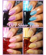 OPI **SHEER TINTS** Color Collection Nail Polish Lacquer Pink Blue Yello... - $6.23+
