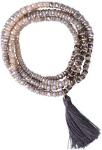 KELITCH Crysta AB Beaded Long Necklace Color Tassel Pendant Women Strand... - $38.20