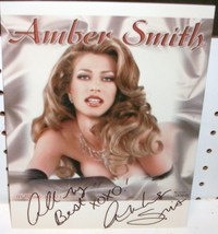 AMBER SMITH - AUTOGRAPHED 8X10 COLOR PHOTO - MODEL - $16.14