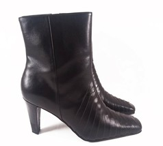 VEGAN Predictions Black Slim-Heeled Ankle Boots with Pointed Toes Size 7 - $20.57