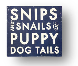 Rustic Sign Snips and Snails & Puppy Dog 17 x 18 Kids Wooden Sign Item 3... - $47.00