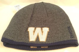 Winnipeg Blue Bombers Cfl Team Logo Reebok Reversible Toque Tuque Winter Hat - $23.55