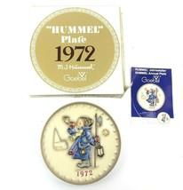 "Hummel Goebel Annual Collector Plate 1972 ""Hear Ye Hear Ye"", in Original... - $13.00"