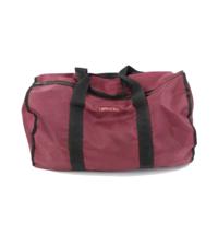 Vintage 80s Streetwear Blank Nylon Handled Duffel Gym Bag Maroon Black USA - $34.60