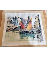 Hans Figura - Canal in Venice Etching - 63/200 - $250.00