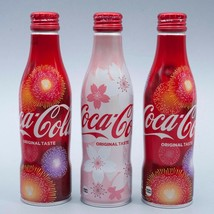 Sakura & 2 Hanabi 2018 Coca Cola Aluminum Full bottle 3 250ml Japan Limited - $38.61