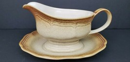 Mikasa Whole Wheat E 8000 GRAVY BOAT and UNDERPLATE - Excellent Mint Con... - $24.45