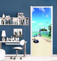 3D Meer, Inseln 45 Door Wall Mural Photo Wall Sticker Decal Wall AJ WALL... - $73.11+