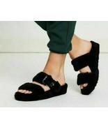 New Women's UGG AUSTRALIA Fuss Yeah Slip On Slides Sandals Slippers Blac... - $79.99
