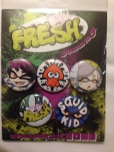 Stay Fresh Splatoon Button Pin Set Corpse Cutie - $6.99