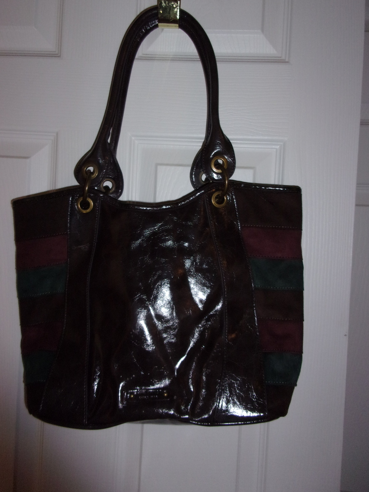 Nine West Faux Suede and Leather Shoulder Bag