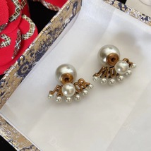 Authentic Christian Dior 2020 J'ADIOR AGED GOLD CRYSTAL EARRINGS Star Bee Wasp image 4