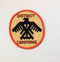"""Vtg DISTRICT CAMPOREE Boy Scouts of America BSA Patch/Badge RARE 3 1/2"""" ... - $8.66"""