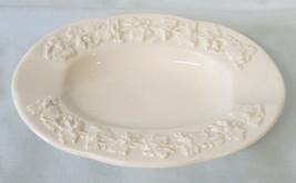 Wedgwood Cream on Cream Embossed Grape Oval Ashtray - $16.72
