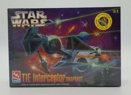 AMT ERTL Star Wars Return of the Jedi TIE Interceptor Snap Model Kit 199... - $24.63