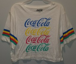 NEW WOMEN'S COCA COLA WORKOUT T SHIRT SHORT HALF BELLY BLOUSE SIZE XXL XXXL - $7.99