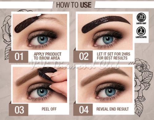 809d08efd8d ... MAYBELLINE NEW YORK Tattoo Eye brow Tint - Light, Medium, Dark Brown  5ml ...