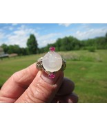 """Antique  !2K Gold Large Moonstone """" Man in the Moon """" Ring       C.1900 - $1,732.50"""