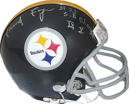 Frenchy Fuqua signed Pittsburgh Steelers Riddell TB Mini Helmet SB Champs IX X - $54.95