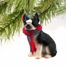 1 X Boston Terrier Miniature Dog Ornament - $10.99