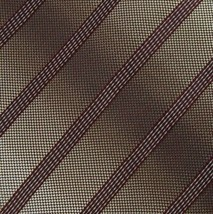 KENNETH COLE Vivid Silver MAROON STRIPED SILK WOVEN NECKTIE TIES Z1-464 New - $19.79