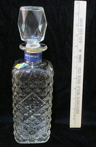 Clear Glass Whiskey Decanter Austin Nicholas & Company Textured w/ Stopper  - $14.10