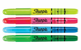 Lot 4 Sharpie Multi-Color Ink Indicator Narrow Chisel Highlighter Stick Markers image 3